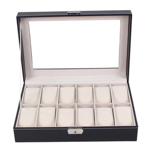 Wholesale Professional Grid Slots Jewelry Watches Display Storage Box Case Inside Container Organizer Box Holder caixa relogio
