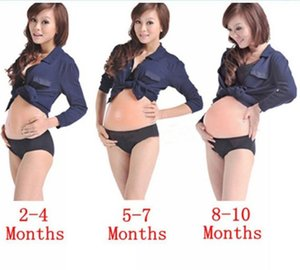 Fake Silicone Pregnant Belly Baby Bump Doll Pregnancy Artificial 2-4 Months 5-7 Months 8-10 Months 3 Types