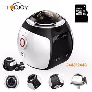 Wholesale 360 Video Wifi Mini Panoramic Camera Ultra HD Degree Waterproof Sport Driving Action Best Selling DHL Shipping