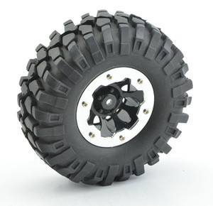 LNL 4Pcs 1:10 Rc Crawler 108mm Tires 1.9'' Wheel Rim Beadlock for Axial SCX10 D90 RC Rock Crawler Truck