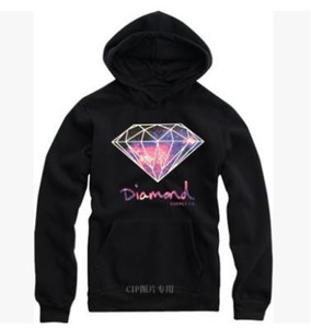 Wholesale man hoodies diamond print Diamond supply co men hoodie fleece warm sweatshirt winter autumn fashion hip hop pri