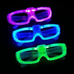 Wholesale Led Cold Light Glasses EL Wire Glowing Flash Fluorescence Flashing Party Glasses DJ Party Decor Christmas Holiday Props ZA3496