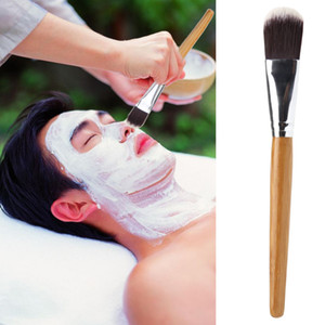 маска для лица с косметикой оптовых-DIY Facial Mask Brush Makeup Brush Cosmetics Powder Foundation Brushes Bamboo Handle