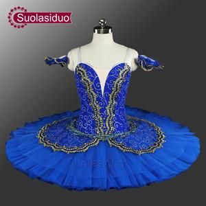 Classical Pancake Ballet Tutu Professional Princess Florina Professional Ballet Tutu Blue Professional Adult Ballet Tutus SD0014