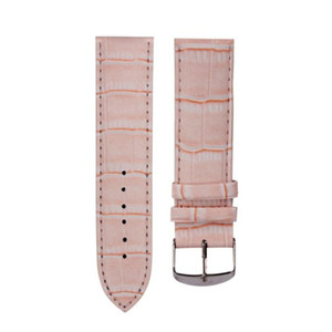Wholesale- 14mm High Quality Soft Sweatband Leather Strap Steel Buckle Women Men Wrist Watch Band