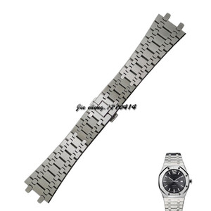 Wholesale JAWODER Watchband Convex Surface Interface Wide Stainless Steel Bracelet Steel Wrist Strap Men women mm Accessories Watch for Royal Oak