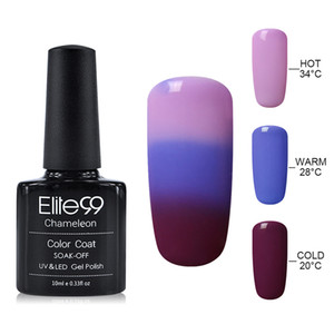 Wholesale-Elite99 UV Thermo Varnishes Gel Polish Soak Off Mood Color Temperature Change LED UV Gel Nail Polish 10ML PC Gelpolish