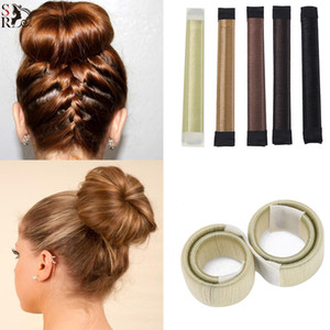 Wholesale Fashion Hair Styling Donut Former Foam French Twist Magic DIY Tool Bun Maker New Hair Accessories