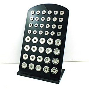 New Arrival 18mm & 12mm Mix Snap Button Display Stands Fashion Black Acrylic Interchangeable Ginger Snap Jewelry Holders Board