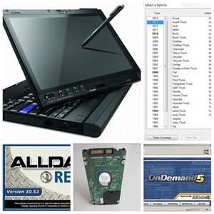 Wholesale Alldata auto repair Soft ware mitchell atsg all data GB HDD installed x200t laptop touch screen ready to use