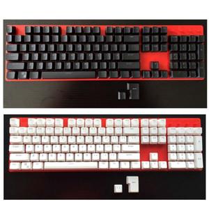PBT double shot Keycap set -White  Black -Translucent backlit keycaps