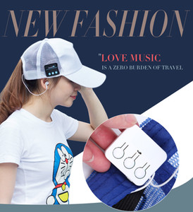 2017NEW Wireless Bluetooth Headphone Sports Baseball Cap Canvas Sun Hat Music Headset with Mic Speaker for Smart Phone with Retail Box M019