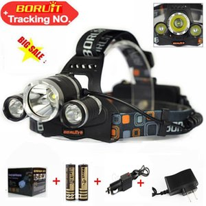 Wholesale Boruit Lumens Headlight LED Cree XM L T6 R5 Head Lamp High Power LED Headlamp battery Charger car charger