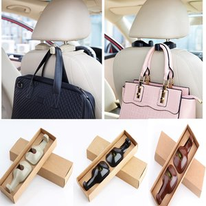 Wholesale 2 Car Headrest Hooks Seat Back Holder Hanger Luggage Bags Mount Bracket High Quality ABS Made Practical In Car multi Purpose Hook