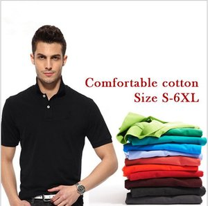 2017 Brand Polo Shirt Men POLO Shirt Solid Slim Fit Breathable Polos Shirt Plus Size 6XL top quality Crocodile Embroidery Camisa Polo Homme on Sale