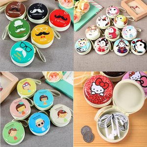 Wholesale 100 styles Colorful Canvas Zipper Bag Earphone Cable Mini Box SD Card Portable Coin Purse Headphone Bag Carrying Pouch Pocket Case Kid Gift