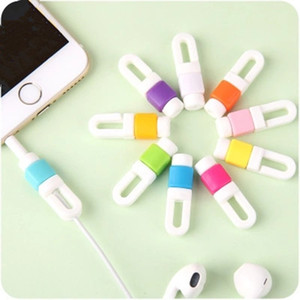 Wholesale USB Cable Data Line Earphone Line Protector Cover Saver Liberator For iPhone Android Links Headphone Cord