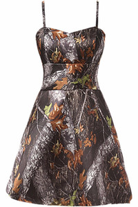 2017 New Sexy A Line Short Camo Prom Dresses Camouflage Homecoming Dresses Party Cocktail Gowns QA018 on Sale