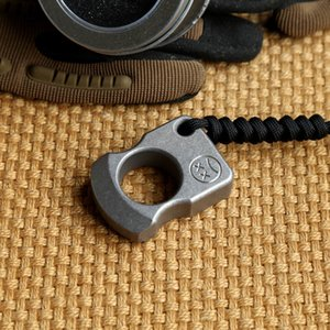 Andy Frankart SFK single finger ring TC4 Titanium Self Defense punch daggers outdoor Buckle Survival pocket EDC Knuck knuckles Multi tools