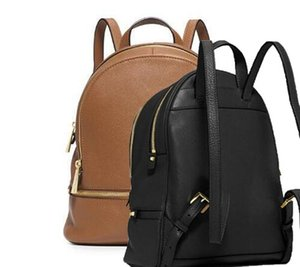 Wholesale leather backpack new fashion women lady black pink khaki rucksack bag charms
