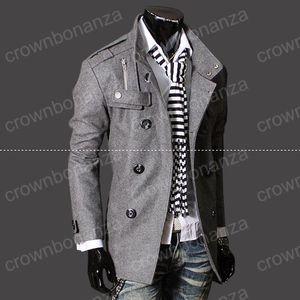 Fashion Stylish Men's Trench Coat, Winter Jacket ,mens mid-long slim Double Breasted Coat ,Overcoat woolen Outerwear M-XXXL NEW ARRIVE!hight