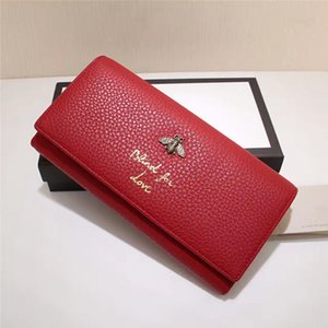 Wholesale New Arrival Women Luxury Wallets high quality real Leather Card Holders Fashion brand design bee purse clutch bags handbag