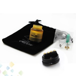 Wholesale High quality Goon Lost Art RDA Atomizers With PEI Drip Tip and Cap PEEK Insulators Lostart Fit E Cigarette DHL Free