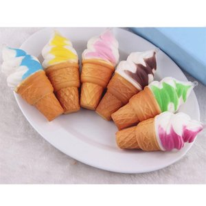 Wholesale id Toys Gift kawaii soft Slow Rising squishy ice cream queeze bun cell phone keys pendant cute bread cake scented