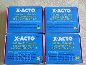 100pcs Lot X-ACTO knife #11 Classic Fine Point Blades, Bulk Pack, Blades per Box fast free shipping