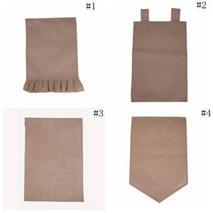 Burlap Garden Flag 31*46cm Jute Ruffles DIY Linen Yard Hanging Flag House Decoration Portable Banner 4 Styles OOA2356 on Sale