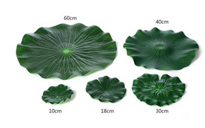 Wholesale Plastic Artificial Lotus Flower Leaf For pool Home Pond Fish Tank Lotus Leaves Leaf Decor Party garden Decorations CM