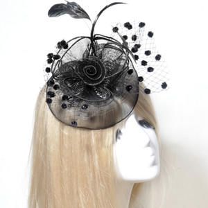 Wholesale 2017 New Hot Sell Black Fascinator Wedding Bridal Birdcage Face Veil Bridal Accessories Ladies Headwear Cocktail Hat Ladies Day Hens