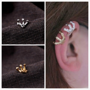 Wholesale ear claws resale online - Punk Jewelry Eagle Claw Ear Cuffs Gothic Silver Gold Tone Ear Bone Clipsm No Piercing Earrings