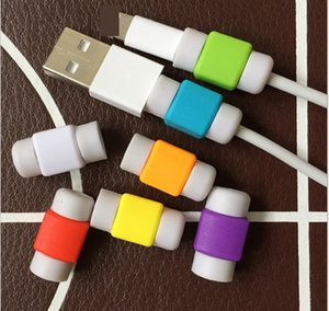 Wholesale USB Charging Cable Silicone Protector Saver Headset Earphone Wire Cord Protective universal for all cables