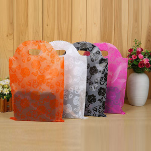 Wholesale 20 Plastic Gift Bags Thicher PVC Colorful Clothing Shopping Pouches Bags Packaging Free Ship Pack