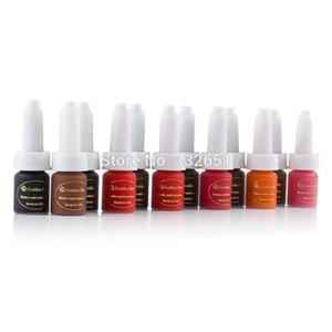 Wholesale-chuse Permanent Makeup Ink Tattoo Pigment kit Supply For Eyebrows Lips 12 colors for options Golden rose J01 eyebrow rotary