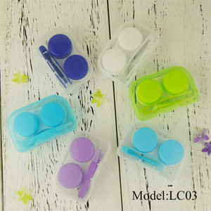 LC03 Eyeglasses Case Contact Lens Easy Carry Case Travel Kit Plastic Contact Lens cheap Cases L + R Marked
