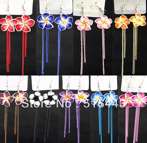 Wholesale earrings fimo for sale - Group buy Big Promotions Pairs Charms Fimo Lucky Flowers Chain Drop Earrings for Women Fashion Jewelry A
