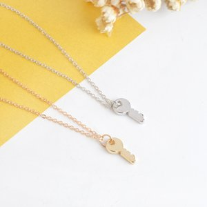 Wholesale Simple Jewelry Key Small Pendant Necklace Sweater Chain Creative Jewelry