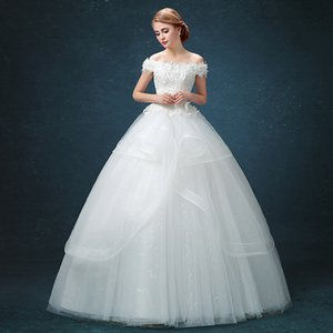 Wholesale new wedding dress Korean bride white lace wedding dress doll collar sweet princess wedding dress