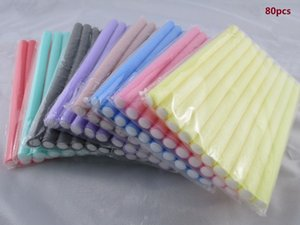 Fast Shipping Wholesale 80pcs Lot Curler Makers Soft Foam Bendy Twist Curls Diy Styling Hair Rollers Tool For Women Accessories on Sale