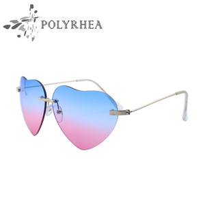 2018 The New Retro Heart-Shaped Sunglasses Love Exquisite Fashion Sell Sunglasses Street shooting Star Peach Heart Sunglasses With Box