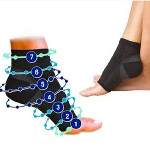 50pcs Foot Angel Anti Fatigue Foot Compression Sleeve Sports Socks Circulation Ankle Swelling Relief Outdoor Running Cycle Basketball Socks