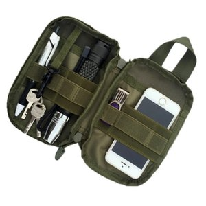Wholesale Hot Promotions Outdoor Tactical Waist Solid Sports Hunting Pack Belt Bag EDC Camping Hiking Phone Pouch Wallet Molle Bag