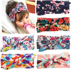Wholesale Bohemian Headband Cotton Girl Baby Bowknot Flower Turban Twist Head Wrap Twisted Knot Soft Hair Band Kids Headbands Bandanas New style