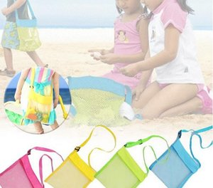 Wholesale Colorful Portable Kids Sand Away Mesh Beach Bag Shell Sandpit Toys Storage