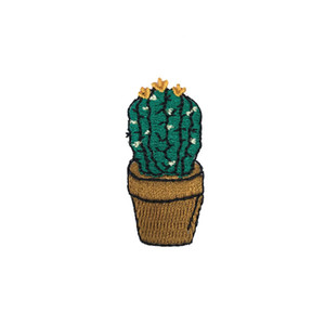 Wholesale Small Size Cactus Applique Iron on Patches High Quality Embroidered Iron Sew On Clothes Bags