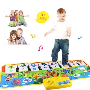 Wholesale Infant Playing Type Baby Music Carpet Mat New Touch Play Keyboard Musical Singing Gym Carpet Mat Kids Baby Toys Gift Krystal