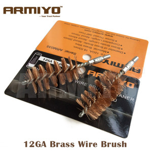 Wholesale 12 gauges resale online - Armiyo GA Gauge mm Hunting Shotgun Bronze Wire Gun Barrel Cleaning Brush Screw Thread Size