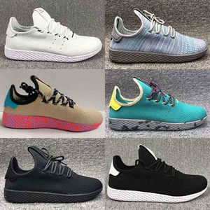 Wholesale Hot Sale Originals Pharrell Williams Tennis Hu Sports Shoes Cheap Rainbow Stan Smith Running Shoes Man Sneakers SHOES Size US